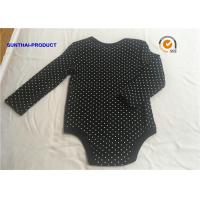 Cheap Classic Black Baby Bodysuit , Rubber Pin Dots Print Newborn Baby Girl Rompers for sale