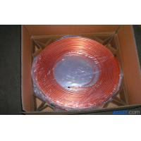 T2 Split Air Conditioner Coil , Oval Mill Polished Copper Pipe Coil H60