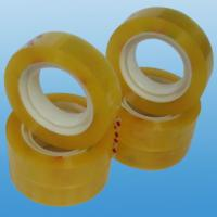 Cheap sealing / packaging / bundling BOPP Stationery Tape , super clear cello tapes  for sale