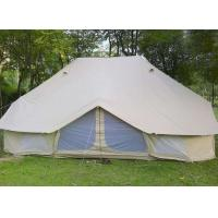 Quality 100% Cotton Canvas Fire Retardant Tarpaulin Outdoor Camping Bell Tents wholesale