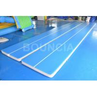 Quality 15m Blue Gymnastics Air Track , Air Mattress Gymnastics With Durable Handles wholesale