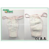 Quality Soft Nonwoven Ladies Disposable T Back Panty for Salons , Tanning Centers and Massages wholesale