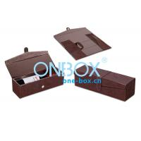 China Foldable Leather Wine Packaging Boxes Display With Magnet Closure on sale