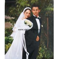 China Spousal Portrait Oil Paintings From Photo on sale