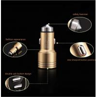Cheap Dual USB Port Car Universal Charger QC3.0 For Smartphones / MP3 / MP4 / iphone for sale