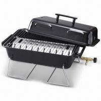 Cheap Portable Barbecue Gas Grill with Table Top, Chrome-wired Legs and Cooking Grid, Made in Taiwan for sale