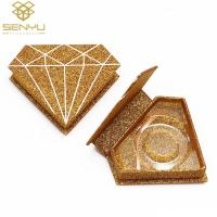 China Gold Foil Stamping 1500gsm Eyelash Packaging Boxes on sale