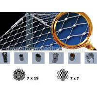 Quality Decoration 304 Stainless Steel Knotted Mesh Rope Woven Wire Mesh For Zoo Animal Enclosure wholesale