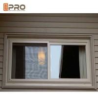 Quality Sound Proof Aluminum Alloy Sliding Windows Black Or Grey Color wholesale