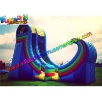 Quality Durable Giant Commercial Inflatable Slide Plato 0.55 PVC With Air Blower wholesale