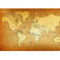 Quality World Map Interior Decorative Wall Panels For TV Wall  , 5mm 7mm 9mm Thickness wholesale
