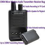 Quality CW04 Mini Wireless Remote Audio Transmitter Receiver Spy Bug W/ Voice Recording in TF Card wholesale