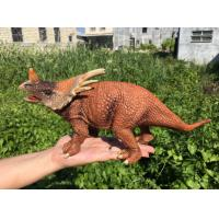 Quality L30*W10*H14 Walking Triceratops Toy / Plastic Triceratops Dinosaur Toy wholesale