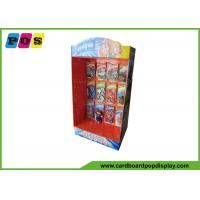 Quality Portable Retail Cardboard Power Wing Display Stand With Metal Pegs For Toys wholesale