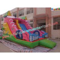 Quality Customized Outdoor Colorful 0.55mm PVC Commercial Inflatable Slide for Kids wholesale