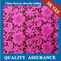 China New design lace fabric;China factory lace fabric Water Soluble; Chemical allover lace fabric on sale