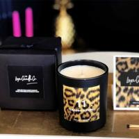 Cheap 100% Natural Organic Handmade Jar Candles Scented Soy Wax Candle Leopard for sale