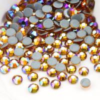 Quality Round Garment Hotfix Glass Rhinestones / Luxury Loose Colored Rhinestones wholesale