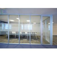 China Thermal Break Aluminium Glass Office Partition Walls Waterproof / Fire Prevention on sale