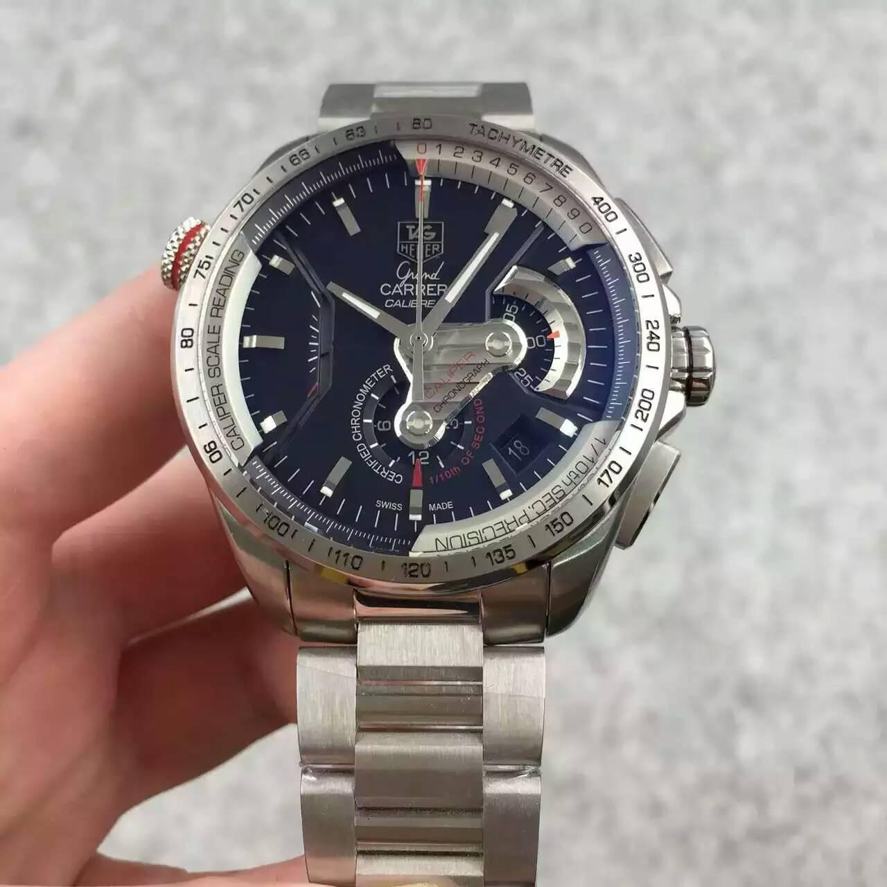 Buy cheap  CALIBRE 36 RS CALIPER Automatic 7750 Chrono 5115.BA0902 Racing Watch from wholesalers