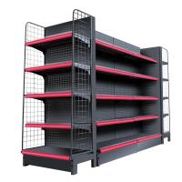 Quality Double Side Supermarket Display Shelving Cold Rolled Steel Material White Color wholesale