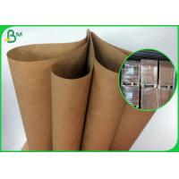 Quality 80g 90g Strong Bearing Capacity Brown Kraft Paper Roll For Satchel Bag wholesale