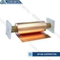 Quality 650mm wide width HP-RA copper foil C11000 with high conductivity in roll ISO9001/SGS wholesale
