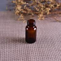 Quality Old Brockway Glass amber medicine bottle Brown 2 OZ silk screen printing wholesale