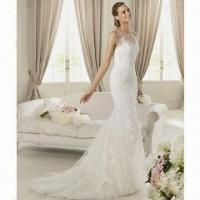 Quality 2012 Brand New Spaghetti Strap Lace Mermaid Wedding Dress wholesale