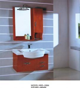 Quality Light brown bathroom cabinet 0.5 Vanity Size , 70 * 80 * 16cm mirror modern bathroom sink cabinets wholesale