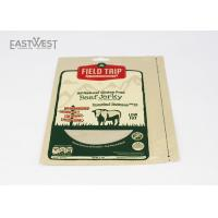 Quality Beef Jerky / Meat Jerky Kraft Paper Pouch With Tear Notch And Hang Hole wholesale