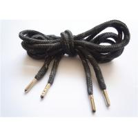 Quality Elastic Black Flat Shoe Laces / Basketball Shoe Laces Durable wholesale