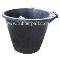 Quality Rubber bucket,flexible rubber pail,cement bucket,recycled rubber barrel wholesale