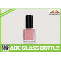 Cheap High quality 15ml clear empty elegant square nail polish oil glass bottle with for sale