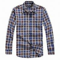 China Men's Dress Shirt with Leisure Design, Made of 100% Striped Cotton Fabric, Comfortable to Wear on sale