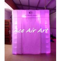 Quality custom new cube tent inflatable led wedding photo booth with logo for advertising wholesale