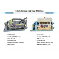 Quality Small Rotary 2000pcs/H Paper Tray Making Machine Without Dryer wholesale
