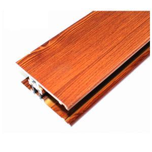 Square Wood Finish Aluminium Profiles , Different Colors Aluminium Framing Systems