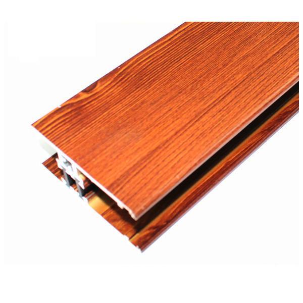 Cheap Square Wood Finish Aluminium Profiles , Different Colors Aluminium Framing Systems for sale