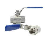 China Cast Iron 2 CF8M NPT Thread Ball Valve 800wog With Hand Lever on sale