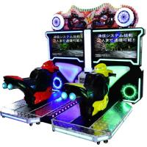 Quality 42 LCD FT Motor Car Driving Arcade Machine , Two Players Super Bike 2 Moto Simulator wholesale