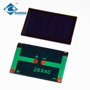 China ZW-2640 High quality Epoxy Solar Panel for salt water power toy 0.12W Mini Solar Power Panels on sale