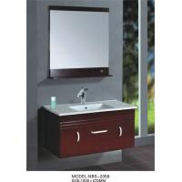 Quality Dark cherry Square Sinks Bathroom Vanities modern Feature soft closing glide hinges wholesale
