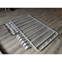 Quality YH-E-022 Q2 Universal Platform Flat Iron Steel White / Black Roof Rack Luggage Rack Carrier Basket wholesale