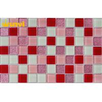 Quality Glossy Purple Glass Mosaic Bathroom Tiles For Interior Decoration , SGS wholesale