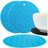 Quality Round Rubber Cooking Utensils , Silicone Baking Mat  Embossed Dots Style wholesale