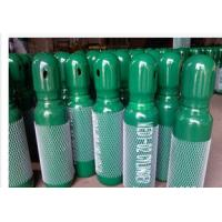Cheap Green / Blue 34CrMo4 High Purity Compressed Gas Cylinder 200BAR 5.2mm Thickness for sale