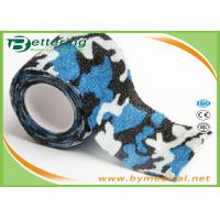 Quality Blue Colour Camouflage Printing Non Woven Cohesive bandage Pre Wrap for Army Camping Hunting wholesale