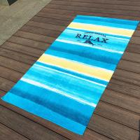Quality Large Stripe Promotional Beach Towels With Raw Finest Egyptian Cotton wholesale