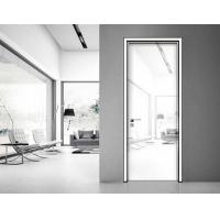 Quality Aluminum frame white formica high gloss interior doors for bedroom wholesale